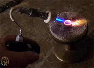Пламя мини- горелки